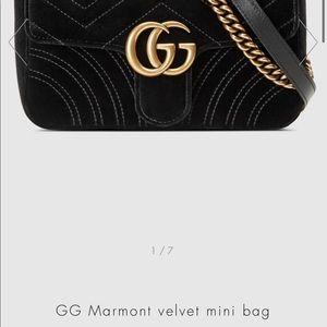 Gucci marmont velvet mini bag